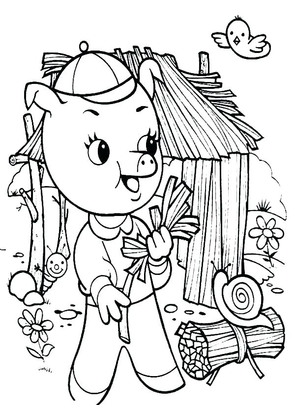 600x825 Little Pigs Coloring Pages Little Pigs Coloring Pages Little