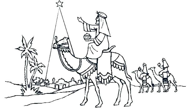 600x358 Three Wise Men Coloring Pages Print This Kings Page And Foolish