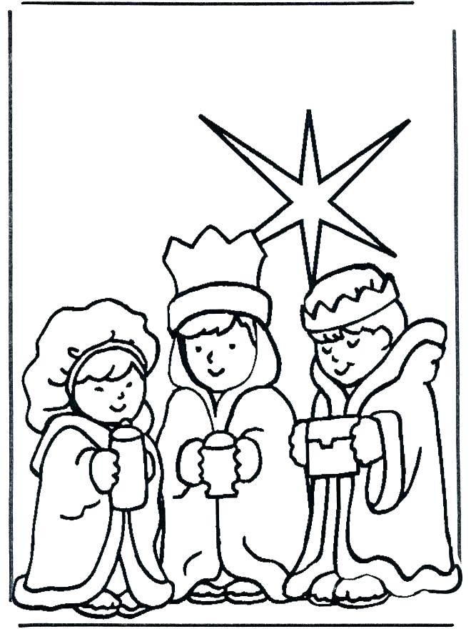 660x880 Three Wise Men Coloring Pages