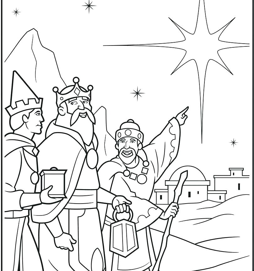 Three Wise Men Coloring Page At Getdrawings Com Free For Personal