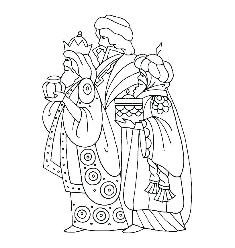 820x864 Wise Men Coloring Pages King Coloring Pages Three Kings Coloring