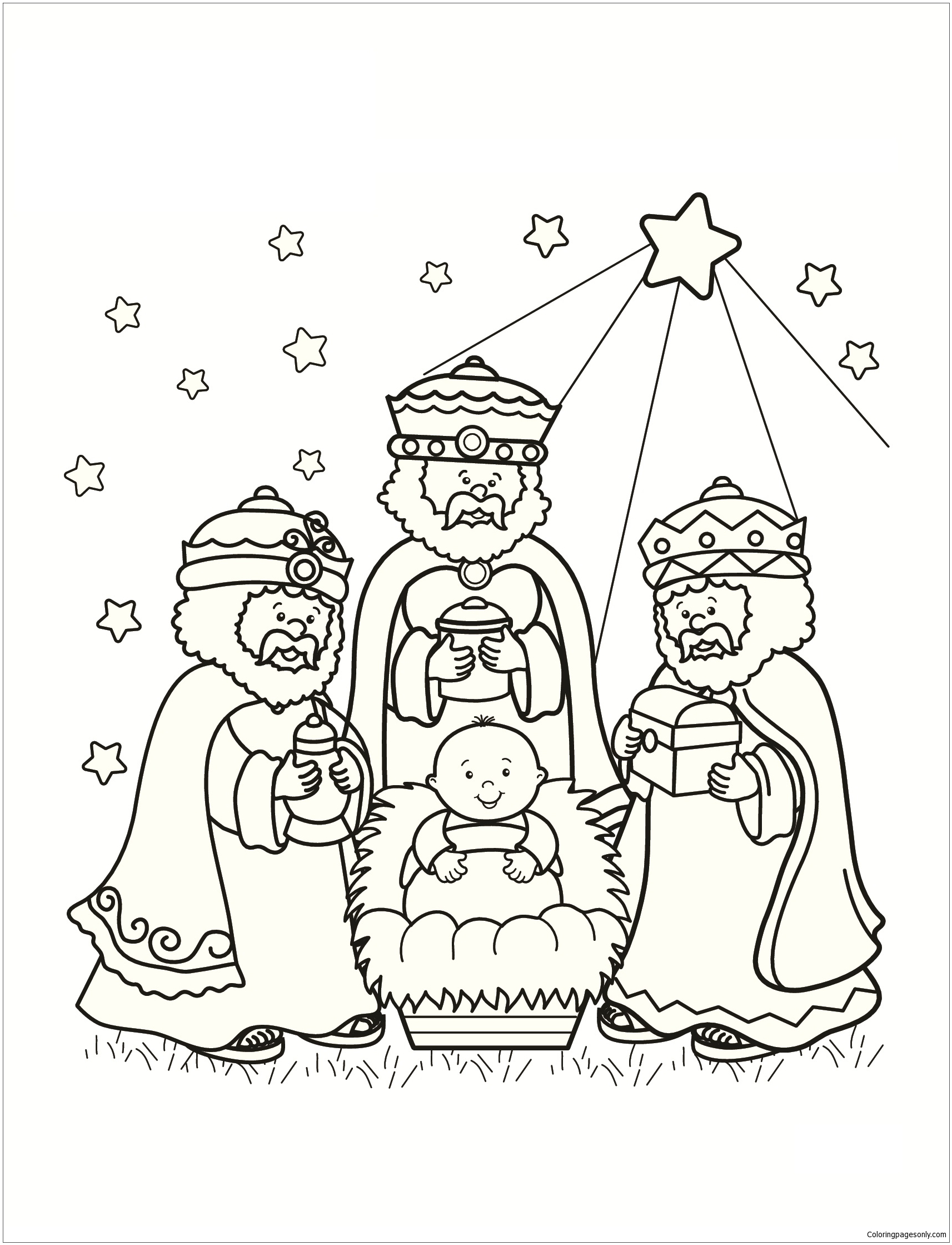 1713x2239 Approved Free Coloring Pages Of The Three Wise Men Strong Page