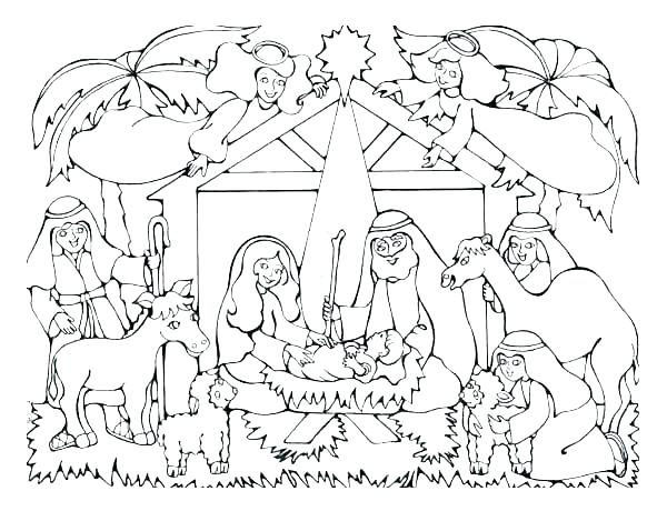 600x460 Wise Men Coloring Pages Three Wise Men Coloring Page Free