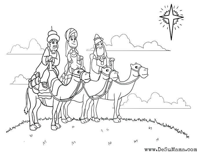 680x526 Wise Men Coloring Pages Wise Men Coloring Page Three Kings