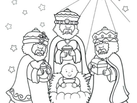 440x330 Three Wise Men Coloring Page