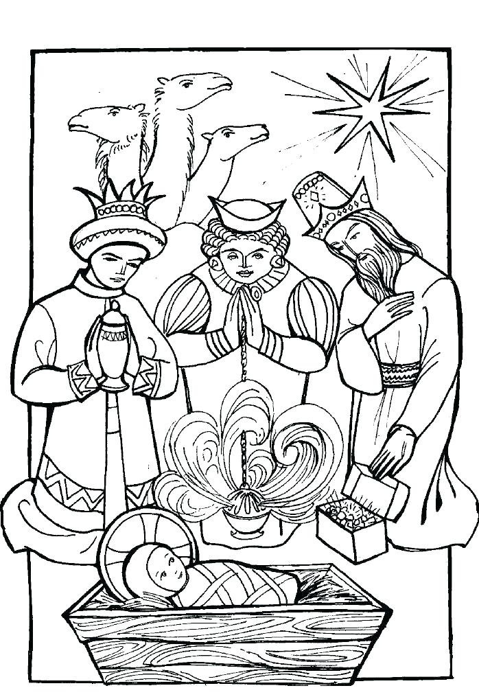 698x1018 Three Wise Men Coloring Pages Vanda