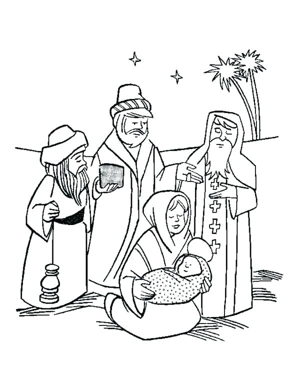 600x754 Wise Men Coloring Page