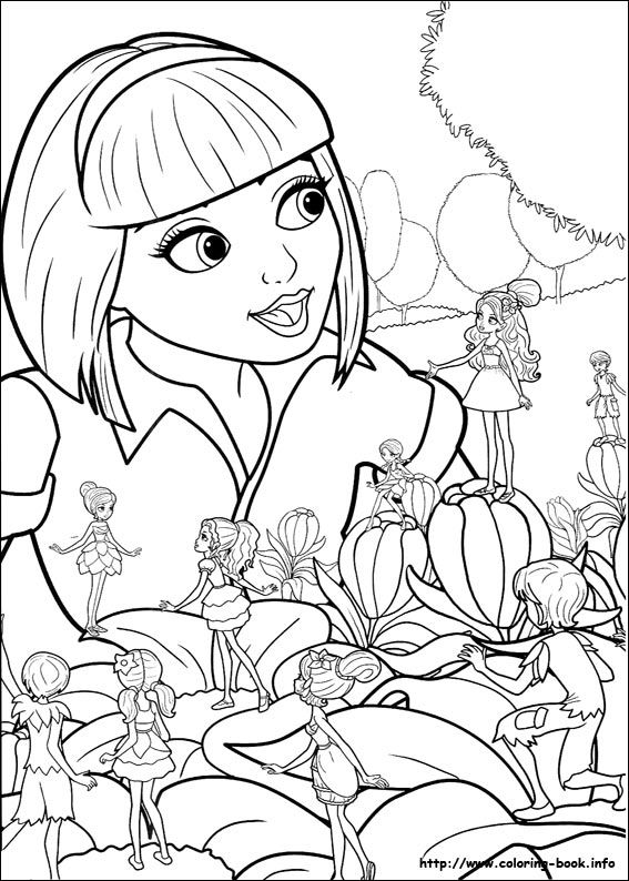 567x794 Barbie Thumbelina Coloring Picture Barbie Coloring Pages