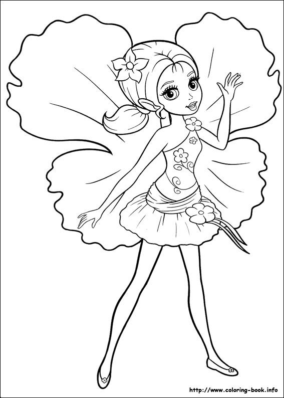 567x794 Barbie Thumbelina Coloring Picture Barbie World Coloring Pages
