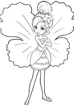 246x350 Little Barbie Thumbelina Coloring Pages Kids Coloring Pages
