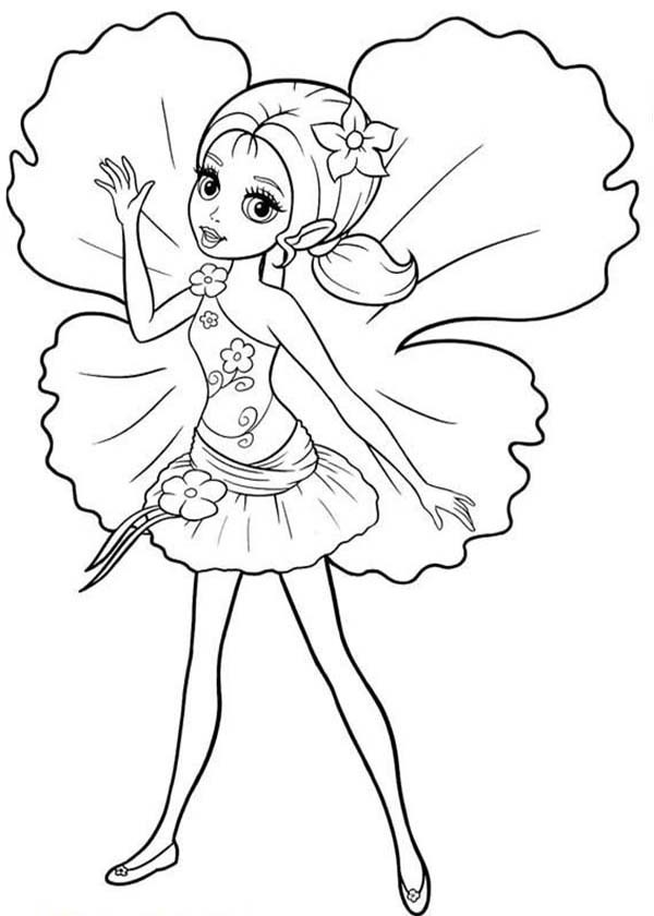 600x840 Picture Of Barbie Thumbelina Coloring Pages Best Place To Color