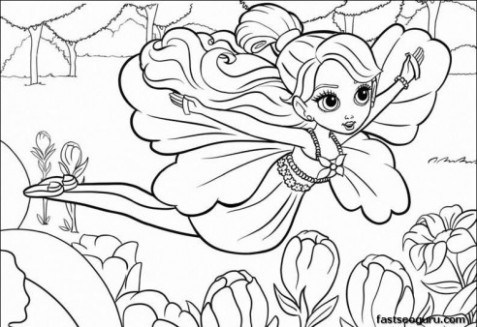 477x327 Printable For Girls Barbie Thumbelina Coloring Pages Just