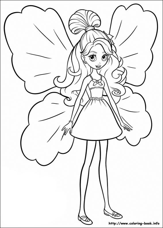 567x794 Thumbelina Coloring Pages