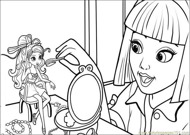 794x567 Barbie Thumbelina Coloring Page