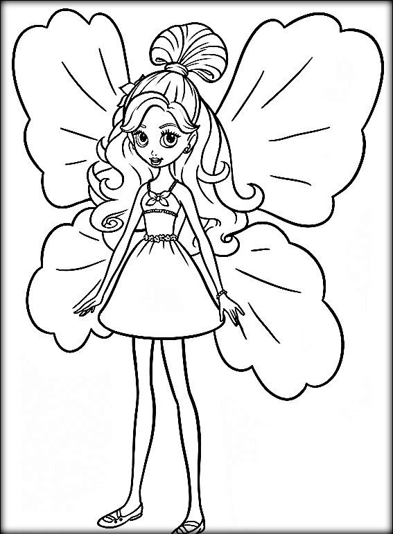 567x771 Thumbelina Colouring Pages
