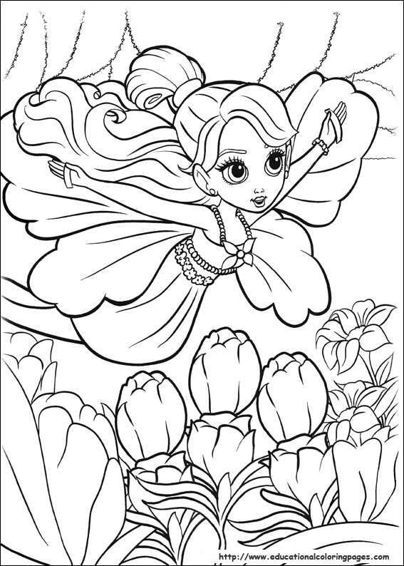 567x794 Barbie Thumbelina Coloring Pages