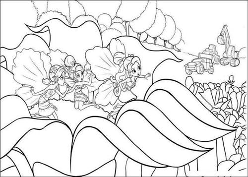 500x357 Barbie Thumbelina Coloring Pages Fantasy Coloring Pages