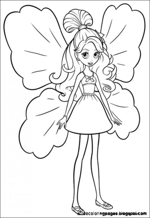 515x746 Barbie Thumbelina Coloring Pages Free Coloring Pages