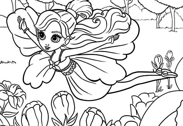 600x413 Barbie Thumbelina Flying Over Twillerbee Coloring Pages Best