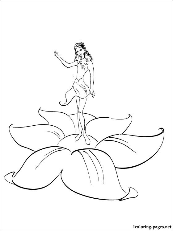 560x750 Barbie Thumbelina And Many Fairies Coloring Page Coloring Pages