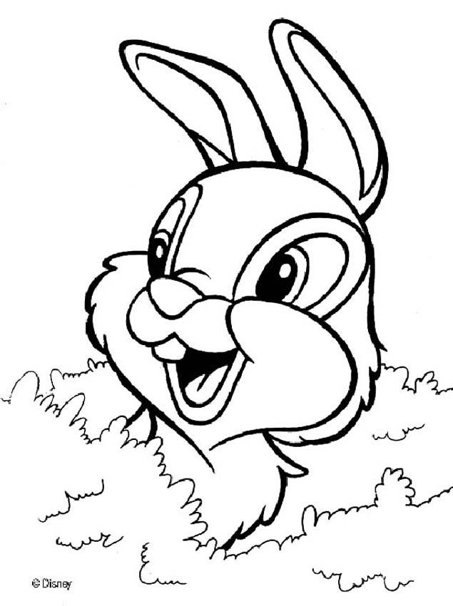 635x850 Thumper Coloring Pages