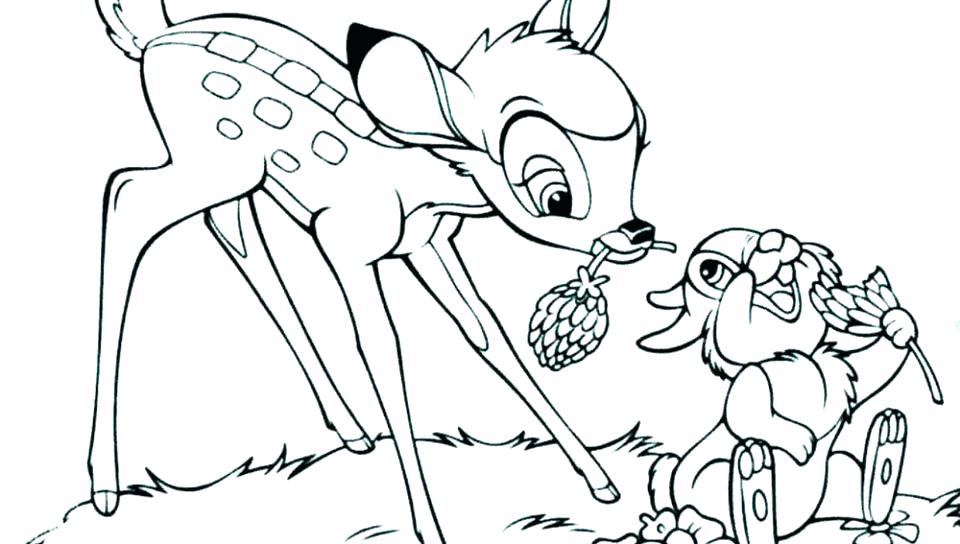 960x544 Thumper Coloring Pages Coloring Pages With Friends For Kids