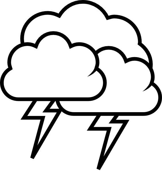 564x596 Lightning Coloring Page Thunder And Lightning Colouring Pages