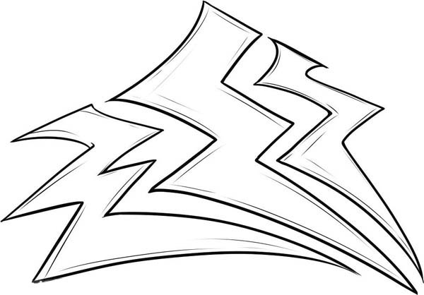 600x418 Lightning Coloring Pages Great Lightning Coloring Pages