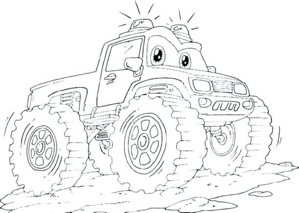 612x436 Monster Trucks Coloring Pages Monster Truck Coloring Pages Blue