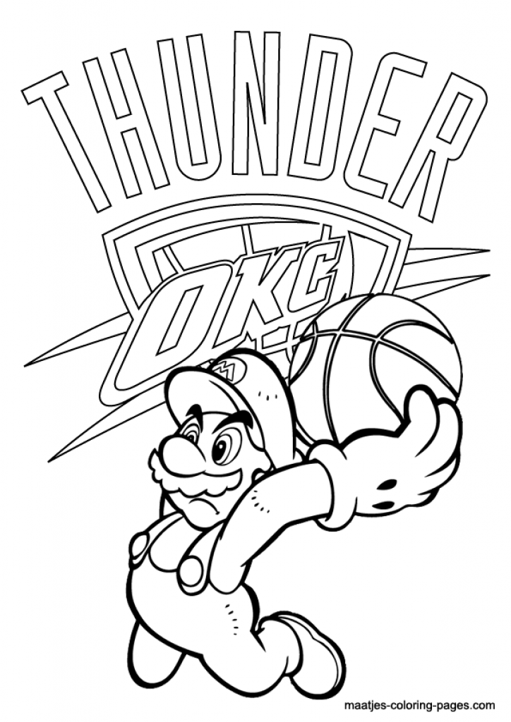 724x1024 Thunder Coloring Pages Pics Of Okc Logo Coloring Pages Okc Thunder