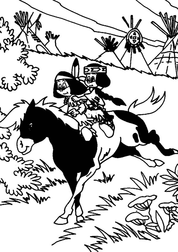 600x849 Yakari And Rainbow Ride Little Thunder Coloring Pages Batch Coloring