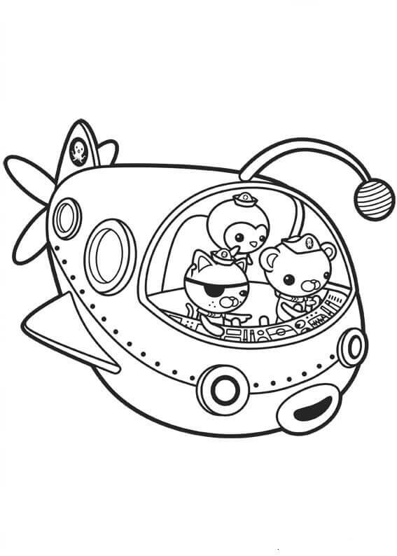 567x794 Free Printable Octonauts Coloring Pages