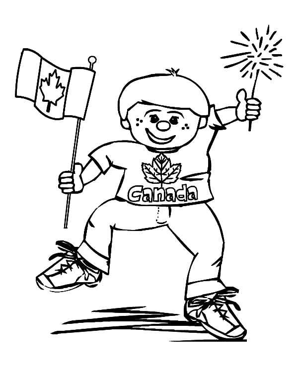 600x761 Hilarious Boy On Memorable Canada Day Coloring Pages