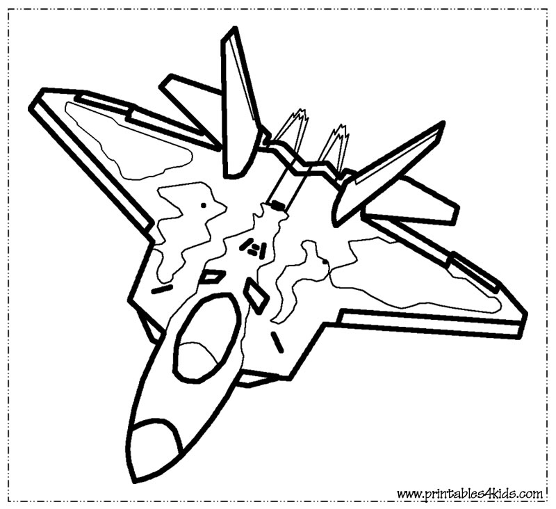 800x732 Jet Fighter Coloring Pages