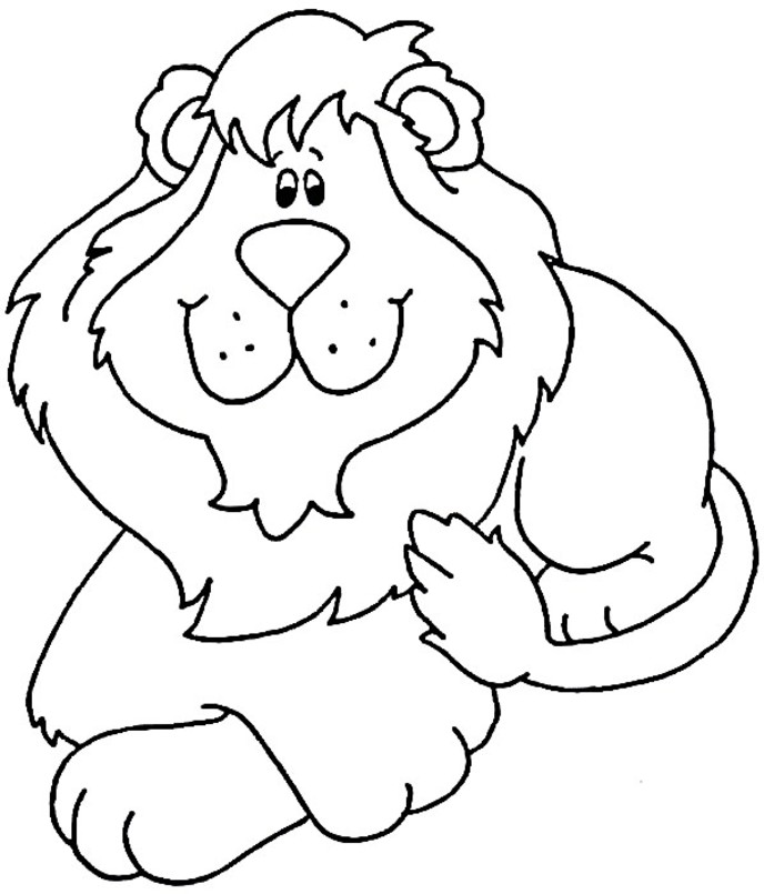 688x805 Lion Coloring Pages Coloring Lab, Colouring Pages