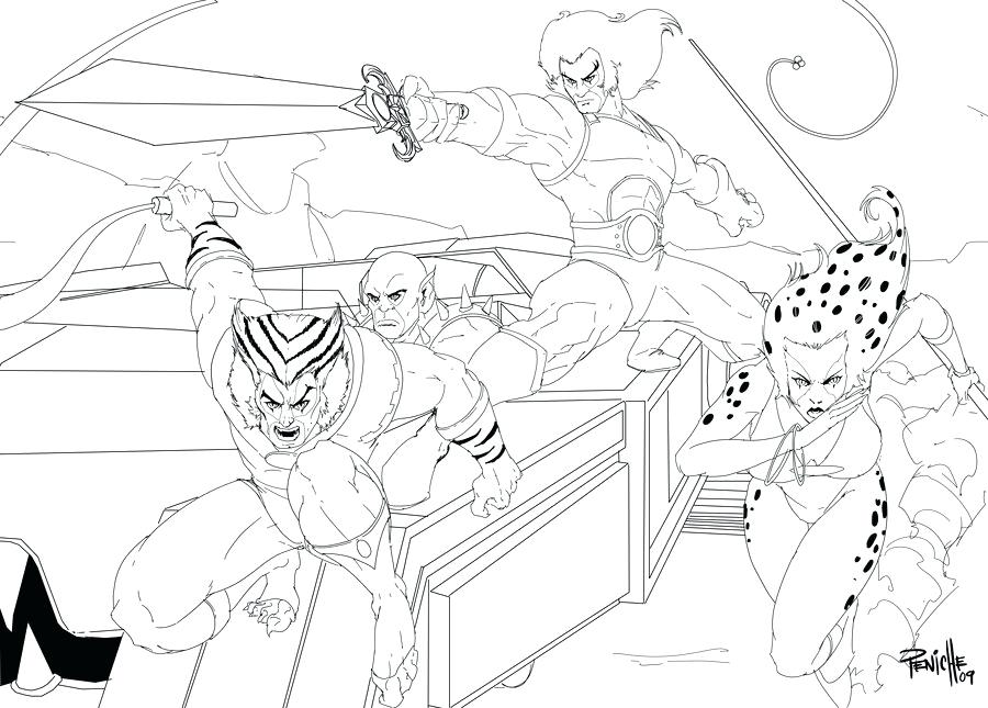 900x645 Thundercats Coloring Pages Synthesis Site For Design