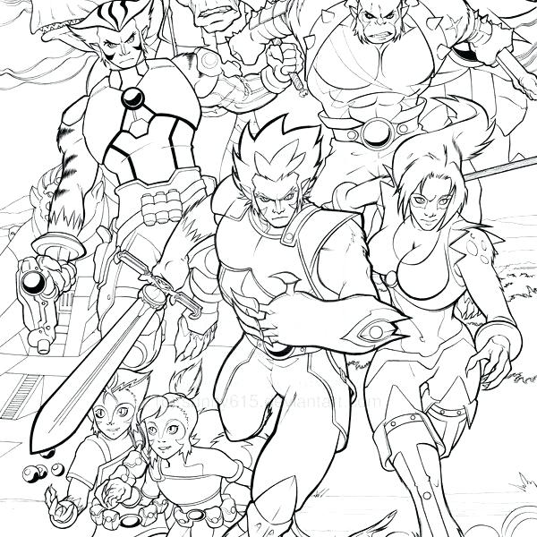 600x600 Coloring Pages Thundercats Thundercats Coloring Pages