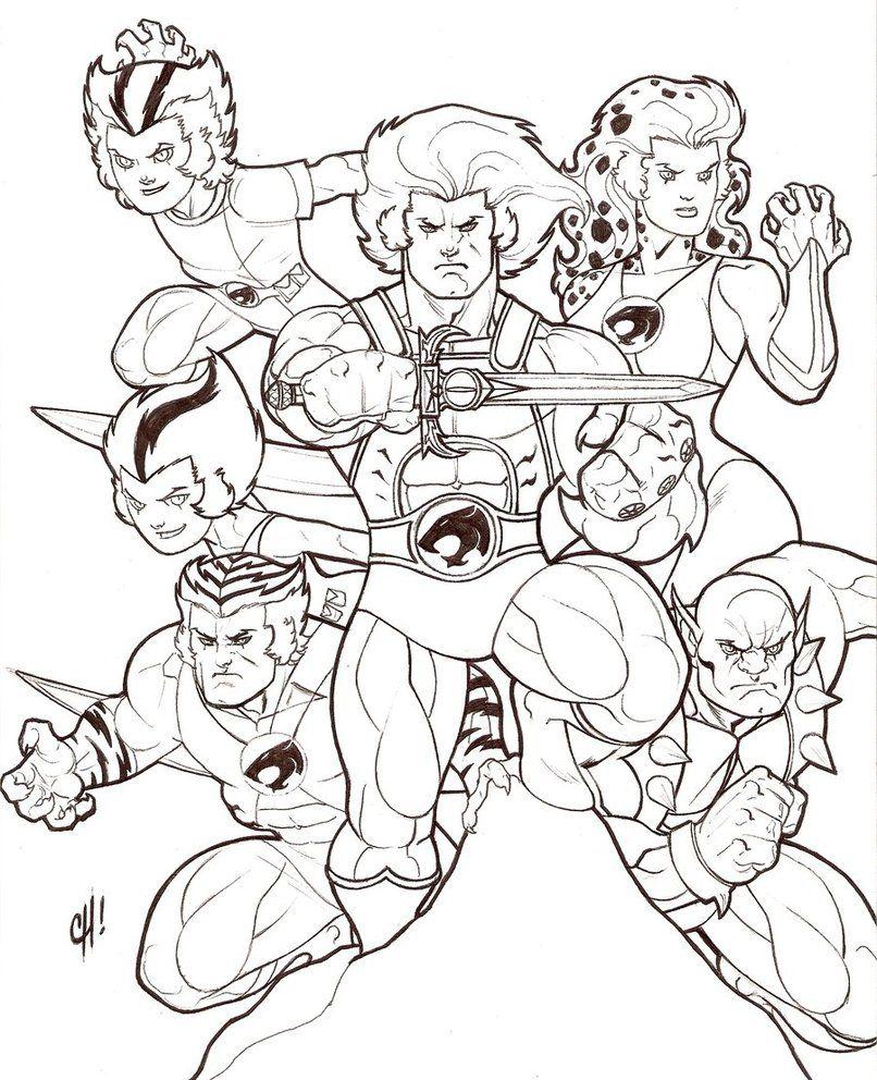 806x992 Thundercats Coloring Pages Cartoons Colouring Thundercats