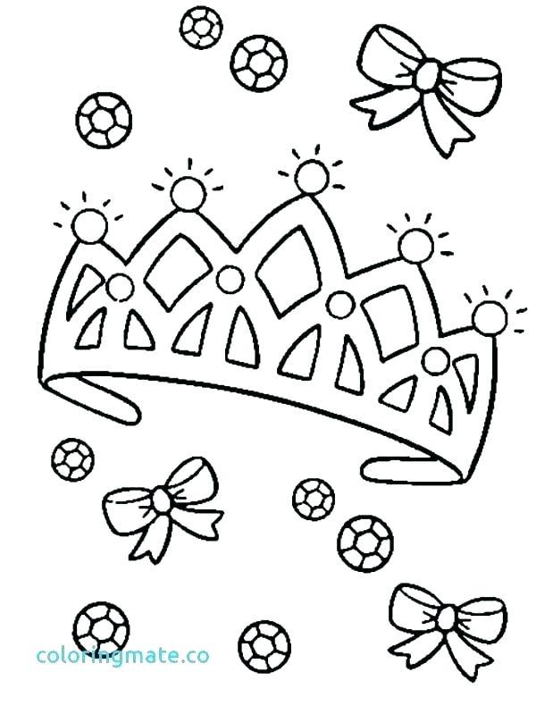 600x790 Princess Tiara Coloring Pages