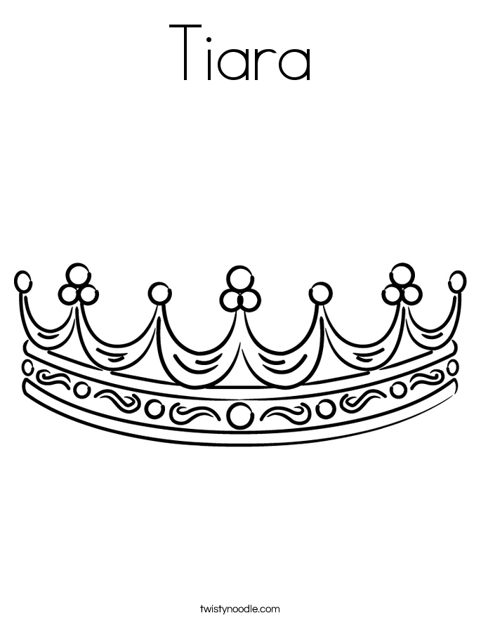 Tiara Coloring Page At Getdrawings Com