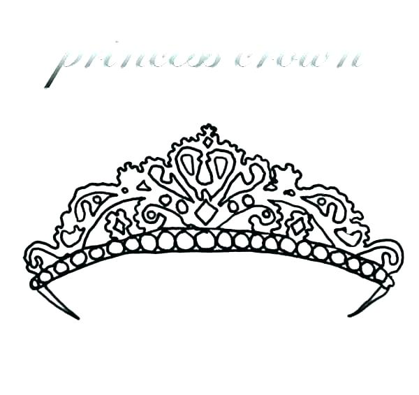 600x566 Coloring Crowns Princess Crown Coloring Page Princess Crown