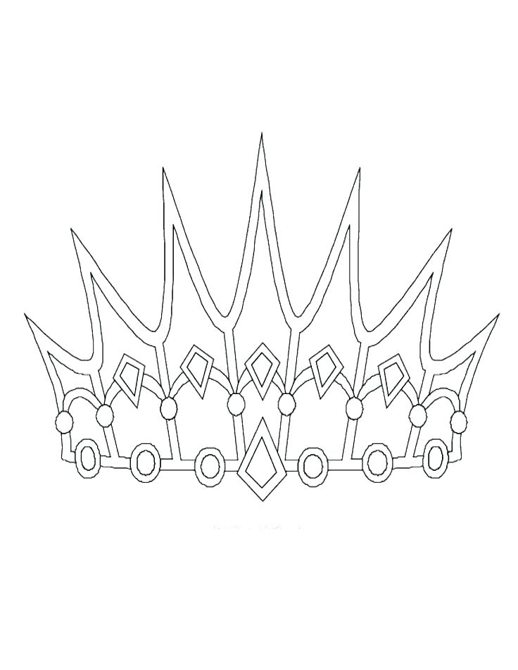 736x952 Coloring Pages Princess Crown Vanda
