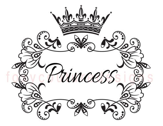 570x440 Vintage Princess Coloring Pages Princess With Crown Vintage