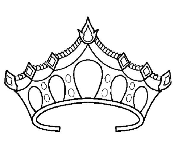 600x557 Crown Coloring Page New Princess Tiara Coloring Pages Az Coloring