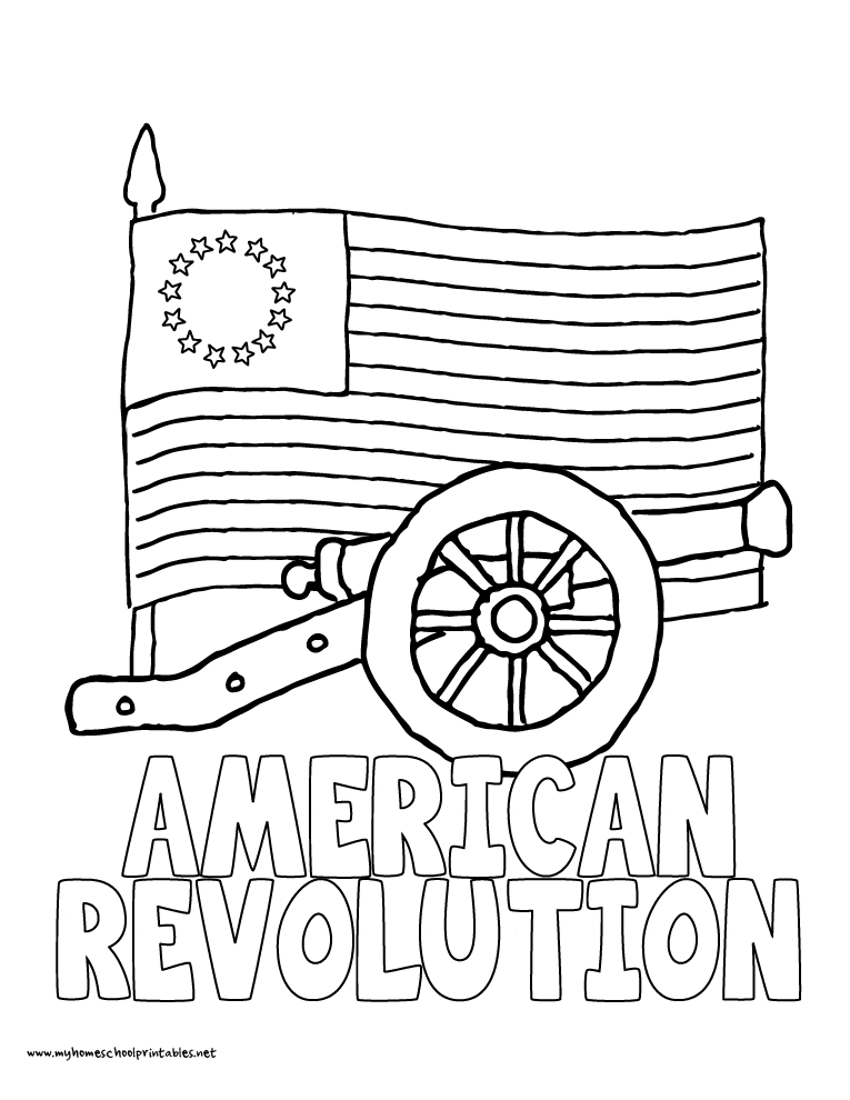 765x990 Revolutionary War Coloring Pages