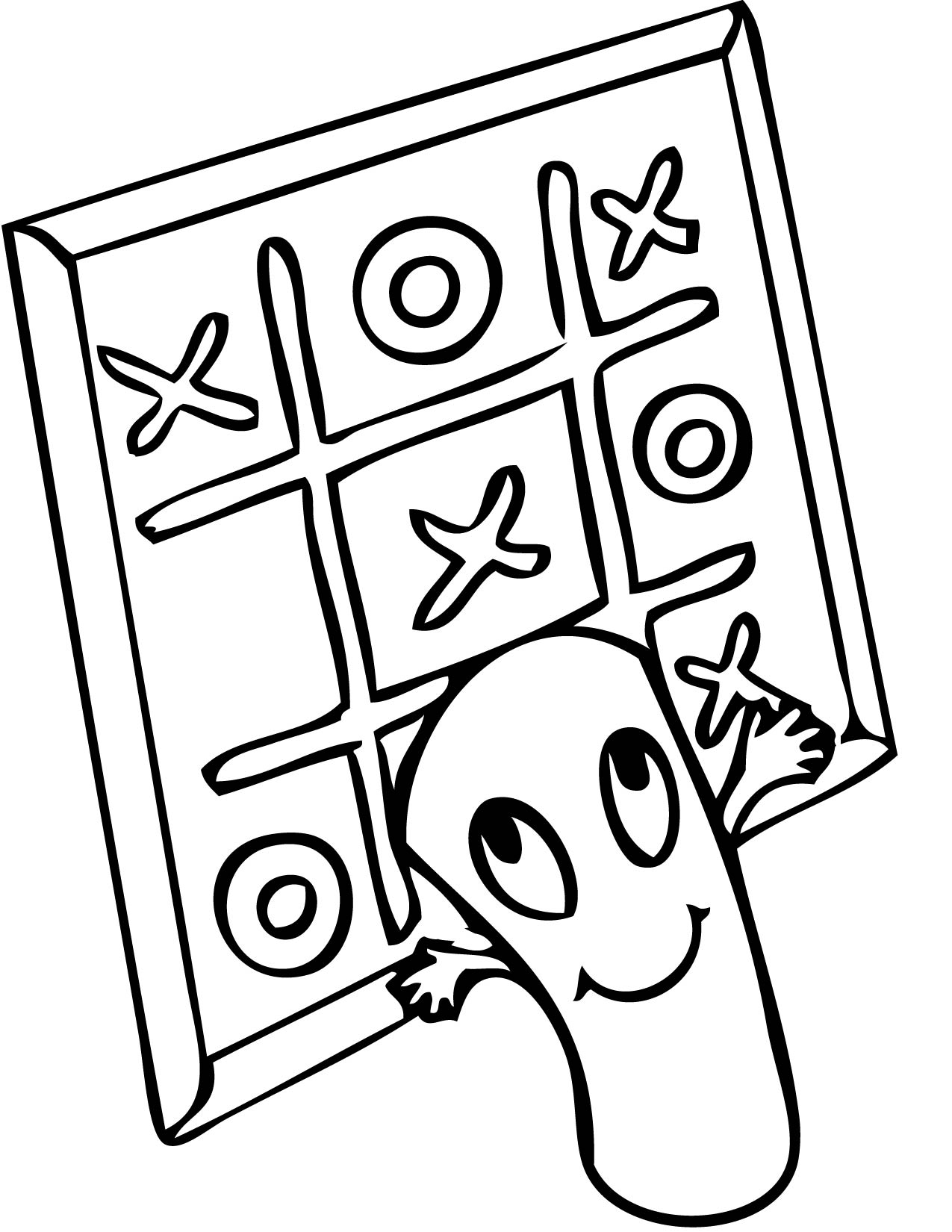 1275x1650 Tic Tac Toe Coloring Page
