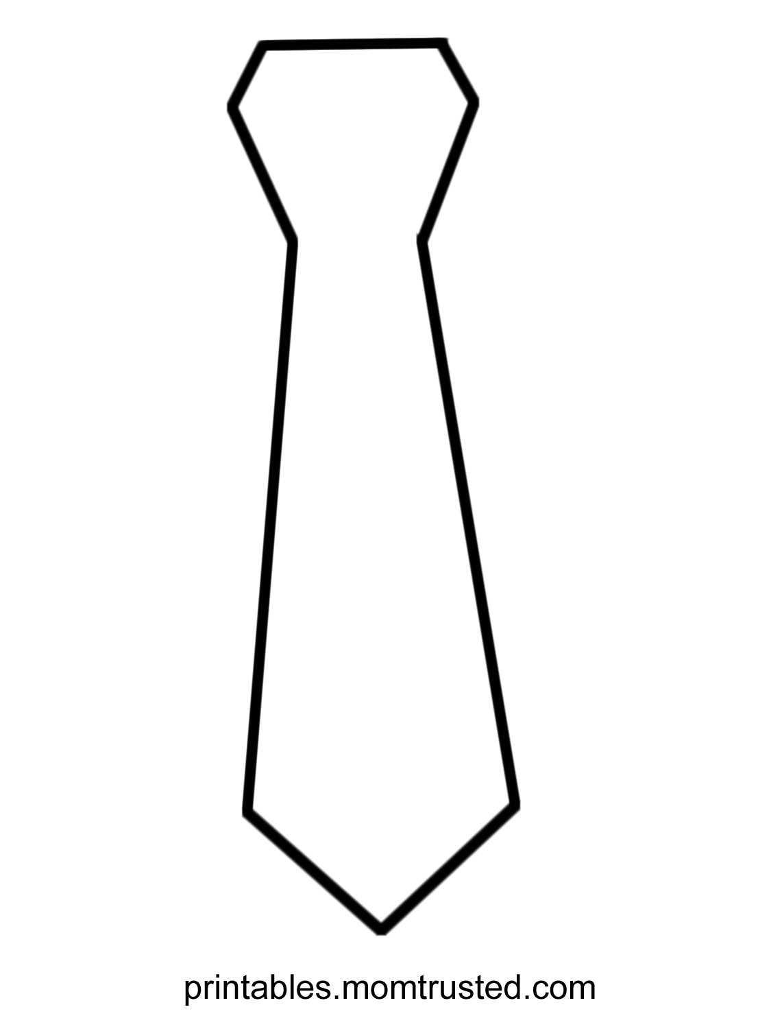 1125x1500 Father's Day Tie Coloring Page