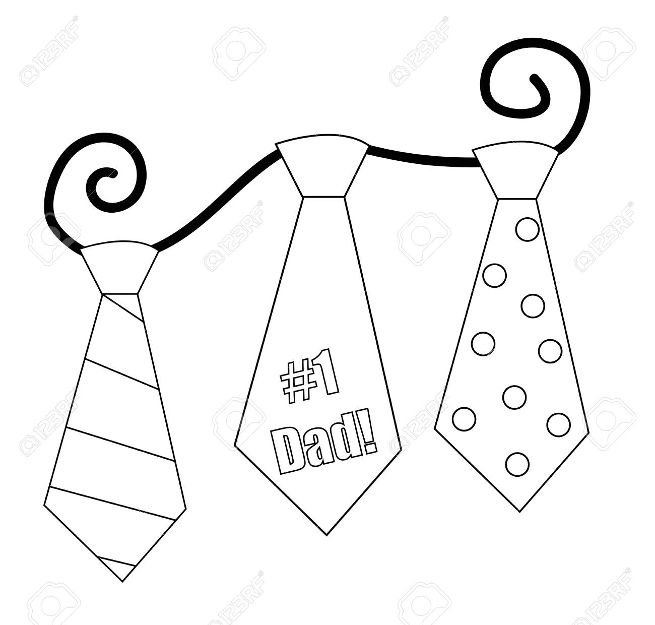 1300x1240 Fathers Day Tie Coloring Page