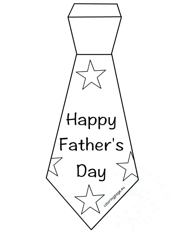 595x808 Happy Fathers Day Coloring Pages Printable Full Size Of Day Tie