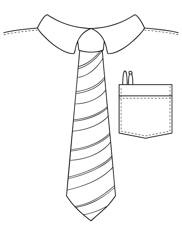 612x792 Tie On Tie Coloring Page